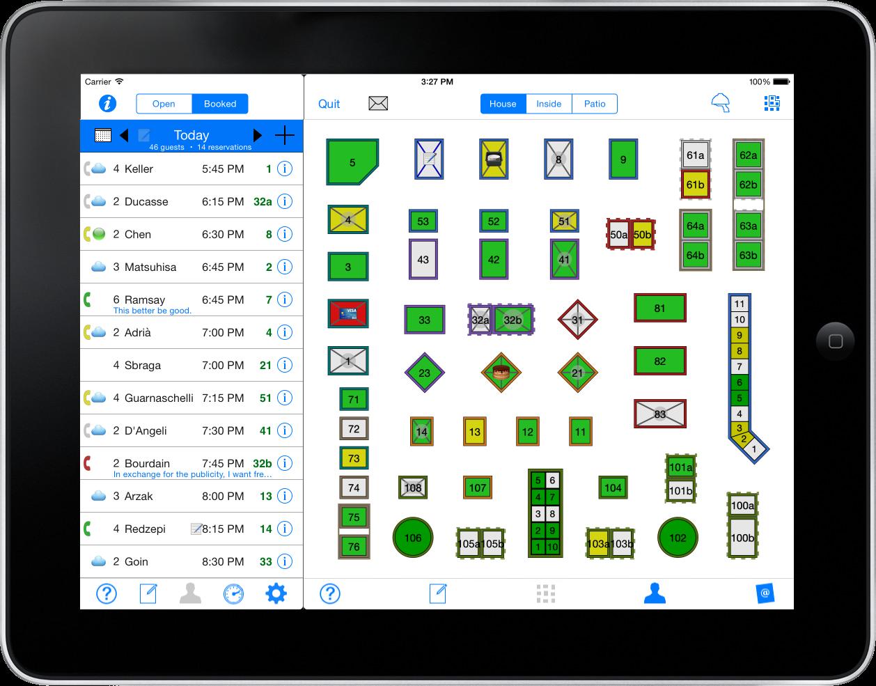 Restaurant seating chart app ipad seating chart apps for Restaurant seating chart app